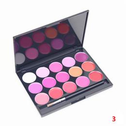 Lip Palette Wholesale UK - 15Colors Matte Lipstick Lip Gloss Makeup Palette to Mouth DIY Tools Lip stick DHL Free shipping