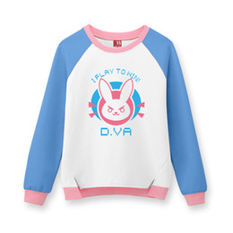 $enCountryForm.capitalKeyWord UK - Malidaike Game Lovely Figure D.VA Rabbit Hoodie Sweatshirt Cosplay Costume Anime Outcoat Sweet Look Lovely Coat