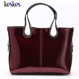 $enCountryForm.capitalKeyWord Canada - Wholesale-Patent Leather Medium Women Shoulder Bags Tote Women Handbags Luxury Women Messenger Bags Famous Brands Female Tote Bags ZCP131