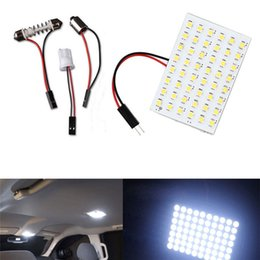 $enCountryForm.capitalKeyWord Canada - 48 LED Auto Car Dome Festoon Interior Bulb Roof Reading Light Lamp with T10 Adapter Festoon Base 3528-48SMD