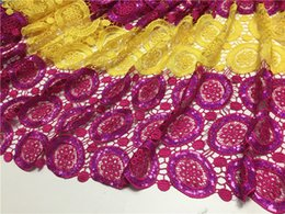 $enCountryForm.capitalKeyWord Canada - Luxury double color African chemical water soluble lace fabric with sequins cord lace material for sewing EWP13(5yards lot)
