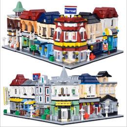 Fire Brick Toys Canada - Size 15*8*8 City Scene Movie Theaters Pizza Shop Fire Station Building Blocks Bricks Toys Mini Figure YH530