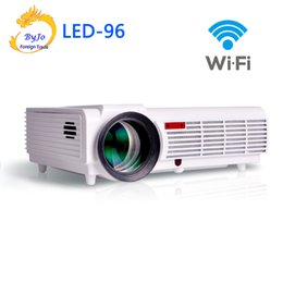 Proyector Wifi Australia - Wholesale- LED96 wifi led projector 3D android 1280x800 Home theater projector hd full BT96 proyector 1080p HDMI Video Multi screen
