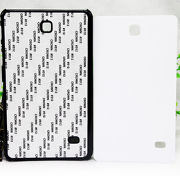 mini plastic cases UK - High Class PC Plastic Hard 2D Sublimation DIY Blank Heat Transfer Ipad Cover Case for GALAXY Tab with Aluminium Plates