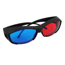 free red cyan glasses Australia - 500pcs lot Red Blue Cyan Myopia General 3D Glasses for 3D Glass Movie Game Movie DVD 3D Dimensional Free Shipping 0001