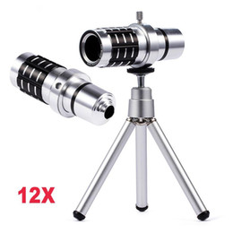 optical zoom telescope samsung NZ - 12X Zoom Optical Telescope Phone Lens + Universal Clip Telephoto Lens For iPhone For Samsung Xiaomi Huawei Meizu Smart Phones
