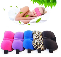 Wholesale 3D Eye Mask Shade Nap Cover Blindfold Mask D Polyester Sponge Eyeshade Sleep Masks for Sleeping Travel Colorful Sleep Masks F0005