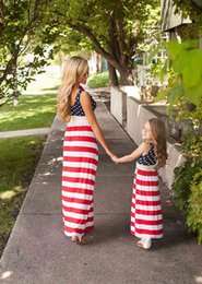 $enCountryForm.capitalKeyWord Canada - 2017 Family Matching Outfits Mother And Daughter Summer Sleeveless Dresses Flag Dress Kids Parent Child Outfits With Belt