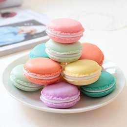 Candy Making Tools Australia - Wholesale- Macaron Jewelry Earring Necklace Display Storage Case Make-up Jewelry Box Coin Purse Mini Candy Box Medicine Organizer Tool