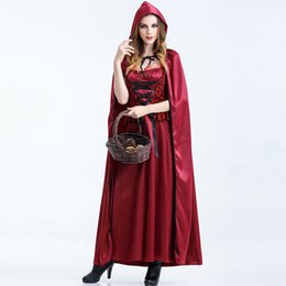 $enCountryForm.capitalKeyWord Canada - Fairy Tales Little Red Riding Hood Costume for Women Halloween Carnival Luxurious Fashion RedCap Cosplay Dress Cosplay Outfits W880326