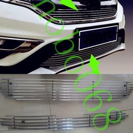 $enCountryForm.capitalKeyWord NZ - 2PCS LOT For Honda CRV 2015-16 Car Front Cover Grid Metal Stripes UPPER Trim Lower Grill