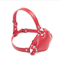 DilDo masks online shopping - red leather adjustable harness mask with cm long Dildo Gag sex toy for women adult toys mouth gag SM bondage