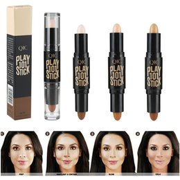 Barato Clareamento De Vara-Double-ended Brand Women Bronzer impermeável Maquiagem <b>Stick Whitening</b> Face Brightener Highlighter Bronzer Countour Canetas 3D