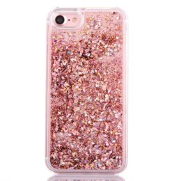 LOVECOM Dynamic Liquid Glitter Colorful Paillette Sand Quicksand Hard PC Back  Cover Phone Case For iPhone 5 5S SE 6 6S 7 Plus d70b7fad2e12