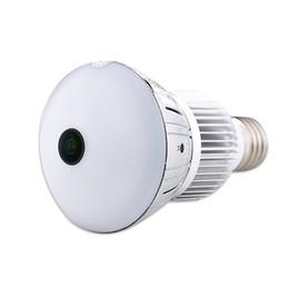 Video Dvr Security Systems UK - 5.0MP Fisheye Panoramic bulb Camera HD WIFI Bulb Lamp DVR mini IP Camera Lamp DVR Motion Detection Video Recorder Home Security System