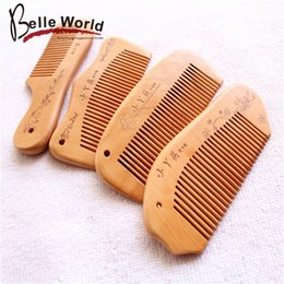 smoothing curly hair 2020 - Boutique selling goods anti-static practical portable wooden comb hair smooth natural hair accessories wholesale stalls