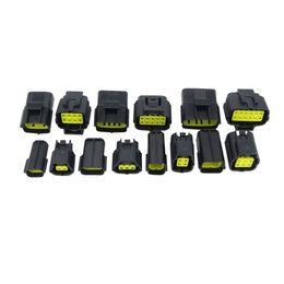 7 Sätze enthalten (2 + 3 + 4 + 6 + 8 + 10P + 12P) für DENSO 1.8-Stecker-Stecker und Buchse, Automotive Wasserdichte Anschlüsse Xenon Lampenanschluss im Angebot