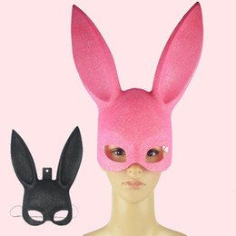 Barato Trajes De Animais Sexy Para Adultos-Sexy Bondage Bunny Rabbit Party Adults Christmas Masquerade Máscaras New Year Mask Costume Accessories