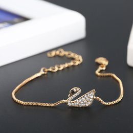 $enCountryForm.capitalKeyWord Canada - New design Lovely Swan Crystal Charm Bracelets Korean new diamond jewelry fine natural high quality free shipping