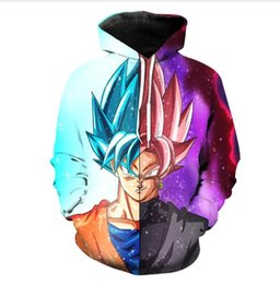 Wholesale dragon ball z hoodie online – oversize New Fashion Men Women Dragon Ball Z Goku Funny d Sweatshirts Hoodies Autumn Winter casual Print Hooded Pullovers Tops LM00086