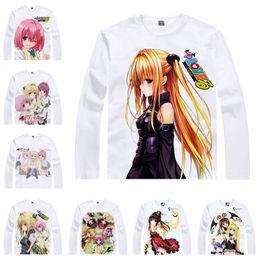 T Shirts Style Australia - Japanese Anime Shirt To Love-Ru T-Shirts Multi-style Long Sleeve Golden Darkness Yami Nana Asta Deviluke Cosplay Costume Kawaii Gift