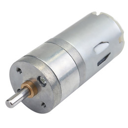 Torque Gear UK - 12V DC 1000RPM Large Torque Mini Gear Motor 4mm Diameter Shaft Motor