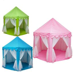 Fairy Princess Toys UK - Portable Princess Castle Children Play Game Tent Activity Fairy House Indoor Outdoor Sport Toy Playhouse Tents Kids Fun Gifts