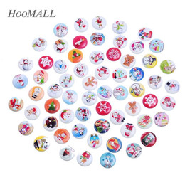 $enCountryForm.capitalKeyWord Canada - Hoomall 100PCs Random Mixed Christmas Pattern Wooden Buttons Fit Sewing DIY Ornaments 15mm