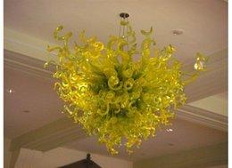 $enCountryForm.capitalKeyWord NZ - Italy Design Blown Glass Chandelier Modern Art Decor Green Glass Artistic Lamps Hotel Lobby Decor Murano Glass Chandelier