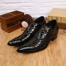 skin leather pointed men shoe NZ - Men Formal Sliver Dress Shoes Newest Pointed Toe Lace Up Snake Skin Style Genuine Leather Luxury Fashion Men's Loafers