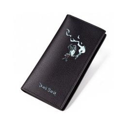 Wallet Zip NZ - Dont Starve Wallet Black PU Short Purse for Man Leather Long Purse with Zip Pocket Credit Card ID Carteira