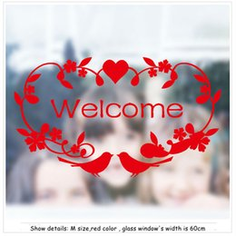 Customizable Glass Window Stickers Sliding Doors Coffee Shop Milk Tea  Restaurant Decorations Setup Welcome Words Art Decals