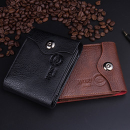 Business Card Holder Magnetic NZ - Free Shipping-European popular he fashion business man purse magnetic buckle dollars