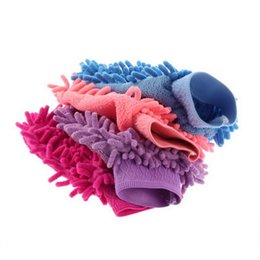 Chenille Towels Wholesale Canada - Wholesale- Universal Portable Car Wash Glove Ultrafine Fiber Chenille Soft Towel Microfiber Cars Cleaning Care Detailing For Automotives