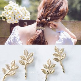 $enCountryForm.capitalKeyWord NZ - Cheap In Stock Gold Wedding Accessories Bridal Hair Pins Leaf Rhinestone Hair Pins Clips Bridesmaid Women Girls Hair Jewelry