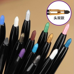Discount magic pencils - Wholesale-2016 1Pcs New Magic 14 Colors Cosmetics Tools Makeup Pen Waterproof Eyeshadow Eye Liner Lip Eyeliner Pencil NX