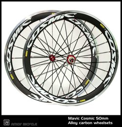 $enCountryForm.capitalKeyWord Canada - New! 700C cosmic painting 50mm clincher rim Road bike 3K carbon bicycle wheelset with alloy brake surface carbon wheels