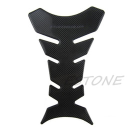 China Wholesale- 3D Carbon Fiber Motorcycle Oil Gas Fuel Tank Pad Protector Sticker Decal Fit cheap motorcycle sticker tank protector suppliers