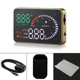 hud display auto Australia - 3 Inch X6 Ultra-clear Auto Car HUD Display with Speed Engine Speed Fuel Consumption Overspeed Alarm Function CAL_402