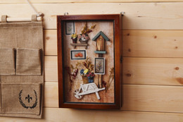 $enCountryForm.capitalKeyWord Canada - Handmade European Country Hanging Key Box Flowers Stereoscopic Wall Act The Role Of Key Case Creative Real Wood Is Received