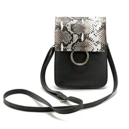 Fashion girls mobile phone covers online shopping - 2019 Women Multi function Small Mobile Phone Bags Serpentine Vintage Single Shoulder Bags Mini Crossbody Bags for Teenager Girls