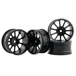 Electric Road Cars UK - RC Aluminum Wheel 4pc D:52mm W:26mm Fit HSP HPI 1:10 On-Road Drift Car Rim 125H