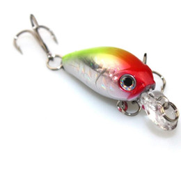 Hard Bait Minnow Crankbait Canada - Best Price 4.5cm 4.2g Laser CrankBait 6PCS Minnow Fishing Lure and 3D Eyes Hard Rattlin Baits with Double Hooks for Saltwater