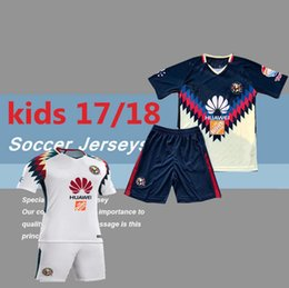 fee8aca77 2017 Kids kits Mexico american club boy young football shirts Club America  Aguilas 2018 new camiseta de futbol Mexican League soccer jersey