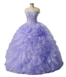 make up models UK - 2017 Sexy Fashion Sweetheart Beading Ball Gown Quinceanera Dress with Sequined Organza Plus Size Sweet 16 Dress Vestido Debutante Gowns BQ78