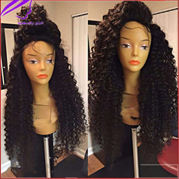 $enCountryForm.capitalKeyWord Canada - High ponytail tight Curly Synthetic Lace Front Wig Heat Resistant kinky curly lace front wig with baby hair For Black Women