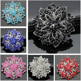 Hijab bouquets online shopping - Rhinestone Brooch Bouquet Big Brooches Hijab Pins and Crystal Rhinestone Brooches Wedding Gift Woman Fashion