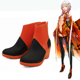 Chinese  Exclusive COS Anime Cos Shoes Guilty Crown Cosplay Shoes Yuzuriha Inori Boots Custom Made High Quality Exquisite manufacturers