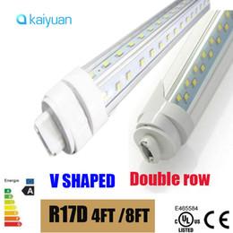 $enCountryForm.capitalKeyWord NZ - T8 LED Tube Light R17d 8ft 6FT 5FT 4FT 1.2M-2.4m LED V Shape Double Glow Light For cooler door LIGHTS AC85-2 led lighting fluorescent lamp