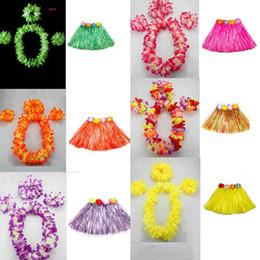 Nuovo 40cm Lunghezza Donna Ghirlanda hawaiana Corona Collana di leoni Lei Erba Dance Beach Party Flower Hula Fancy Dress Decorazione di nozze